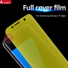 Mobile Phone Accessories! HD Clear Anti Bubble TPU full Cover Screen Film For Samsung Galaxy S7 Edge Screen Protector