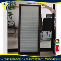 Residential house,decorated louver window,Aluminum Single tempered glass window louver for best price