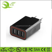 5V5.2A Original new shenzhen manufacture 3 port usb charging station for iphone 4S, 5S, 6, 6S, Samsung Galaxy S6, S7