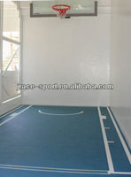 private indoor basketball court by SPU materials