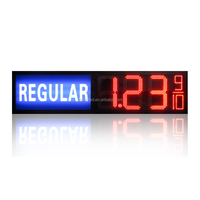 gas station led price digital sign with regular light box