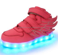 Brand New Kids Girls Boys LED Light Up Sneakers Luminous Casual Flash Usb Charger Led Light Girls Shoes With Led Light