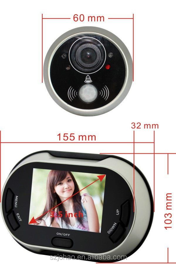 ACTOP 3.5 Inch LCD Digital Peephole Door Viewer for Smart Hoem