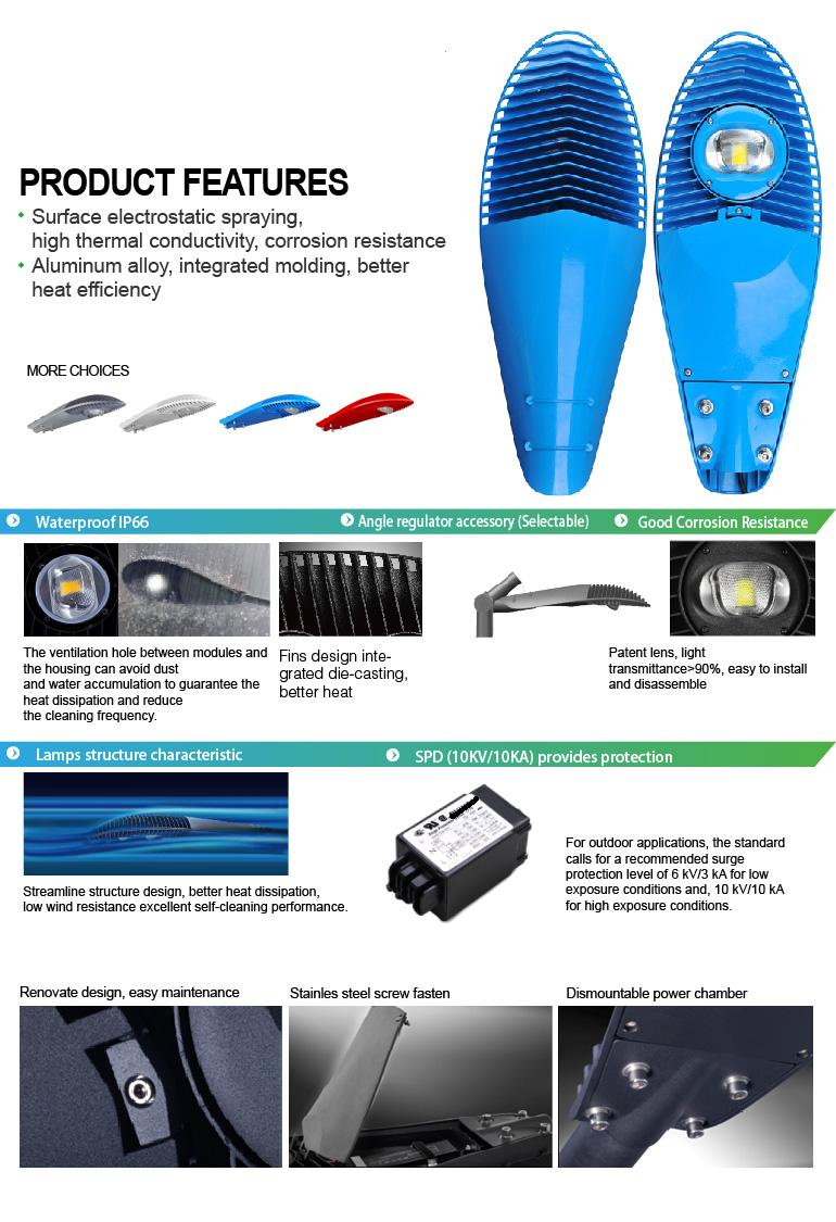waterproof CE & RoHs approved 220v 230v 50w outdoor street light