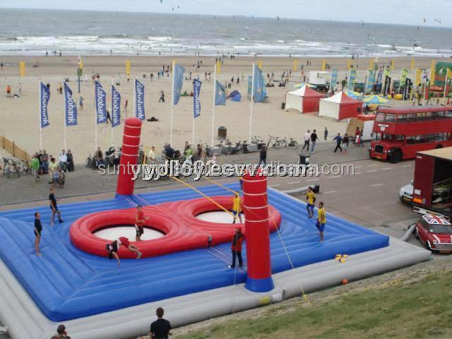 Outdoor Beach Inflatable Volleyball Court Water Sport <strong>Game</strong> for Sale