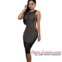 2016 Black Ribbed Crisscross Sides tight latex dress designs frocks