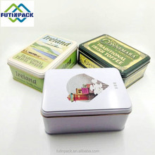 food grade rectangular metal tin box for butter cookies biscuit package