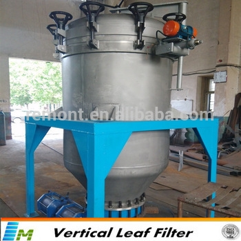 Used engine oil recycling machine vertical pressure leaf filter