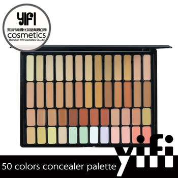 New products TZ 50colors clear palette highlight name brand concealer