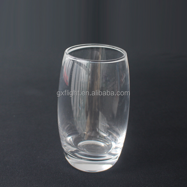 Airline high clear crystal beverage glass
