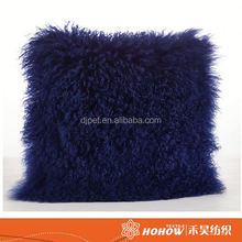Fashion 2016 wholesale real tibet sheepskin plate for cushion and pillow