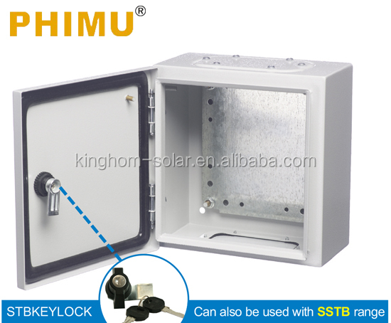 IP65 Wall Mounting Epoxy Coated Strong Steel Enclosures