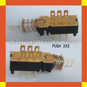 Push button power switch PUSH 2X2 electronic switch
