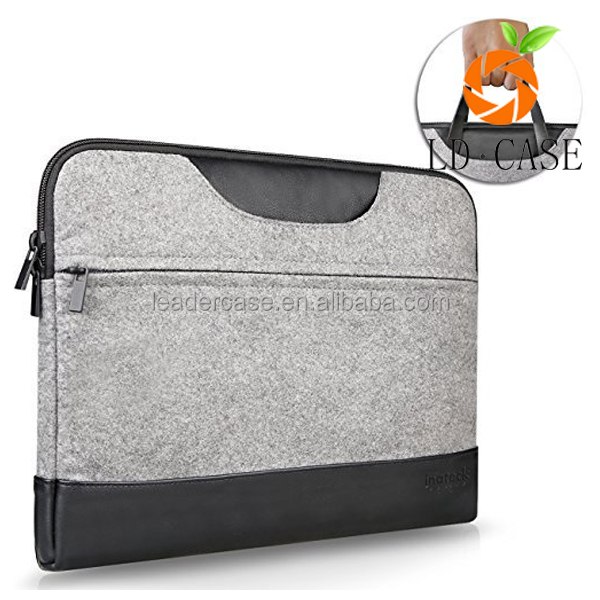 Fashion Water-resistant PU Leather Laptop Sleeve for iPad Pro / MacBook Air / MacBook