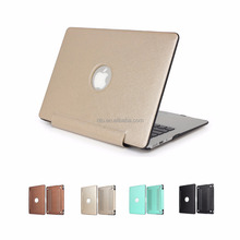 3D Gold Leather Case for Apple Macbook Pro 15 inch with Cut Out Logo Style