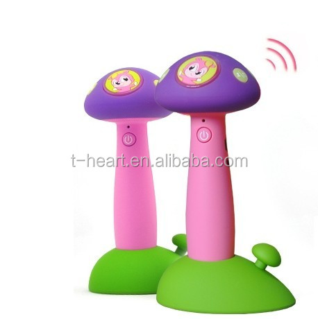 Hot sale high quality mushroom silicone english talking pen for kids