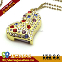 2015 Promo Jewelry Heart 1GB USB Menory Pen Drive