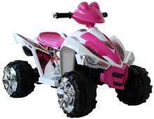 12v Big Wheel Ride-on Pink Girls ATV Quad Bike