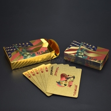 Customized Game poker 24K Gold Foil Plastic Playing Cards