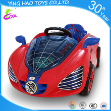 Baby Spiderman Battery Operated Ride On Car RC Control Electric Powered Kids Ride On Toy Car