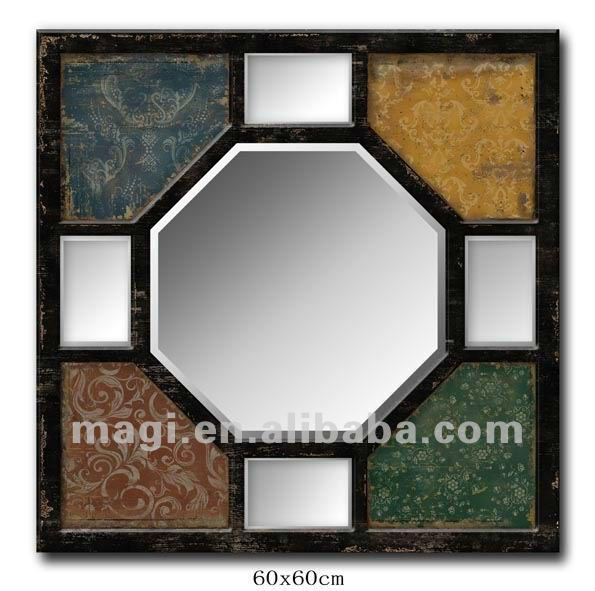 Vintage Creative Tracery Wall Decor Wood Mirror
