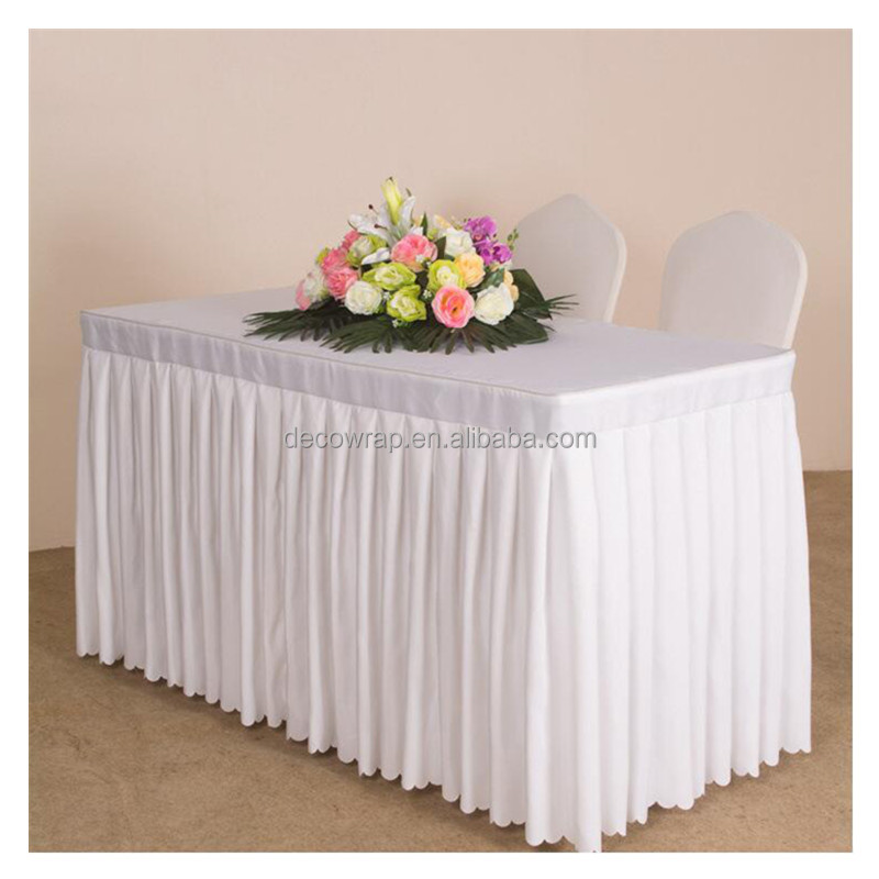 Banquet use Ruffled Table Skirt