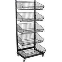 2016 new product 5 basket rotating modern display wire racks