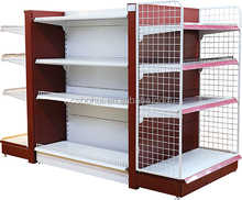 High quality Supermarket gondola rack, display shelves metal, supermarket shelving