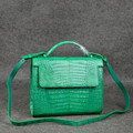 exotic ladies handbag women croc bag green colors dubai kuwait fashion