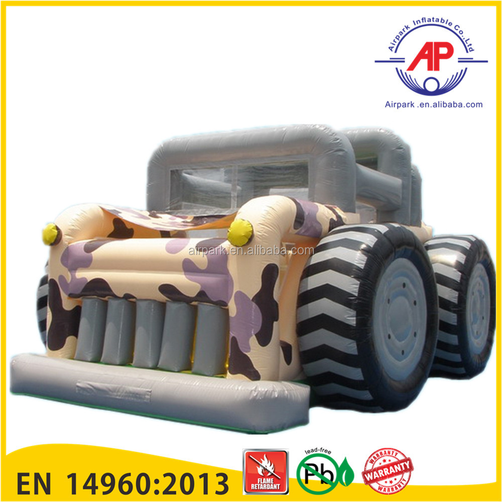 OEM ODM inflatable bounce house / cartoon monster truck bounce house for sale