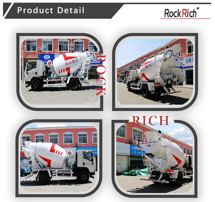 Durable Euro IV emission 5 cubic meter small concrete mixer truck for sale
