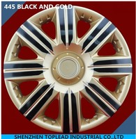 ABS/PP colorful and attractive twin-colors car wheel cover, anti- wear car rim skin