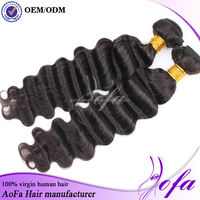 Popular Factory Price Allies Express Loose Wave Remy Human Indian Hair