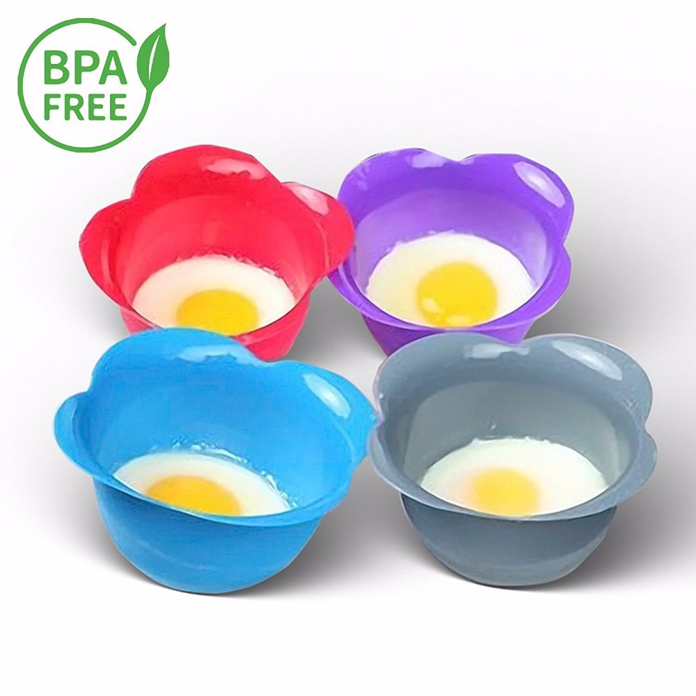 BPA Free Non-Stick Poaching Pods for Cooking Perfect Poached Eggs Silicone Egg Poacher Cups