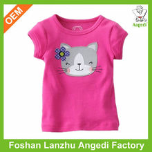 baby clothes Toddler girls clothing fashion design girls graphic top trendy single Jersey t shirt