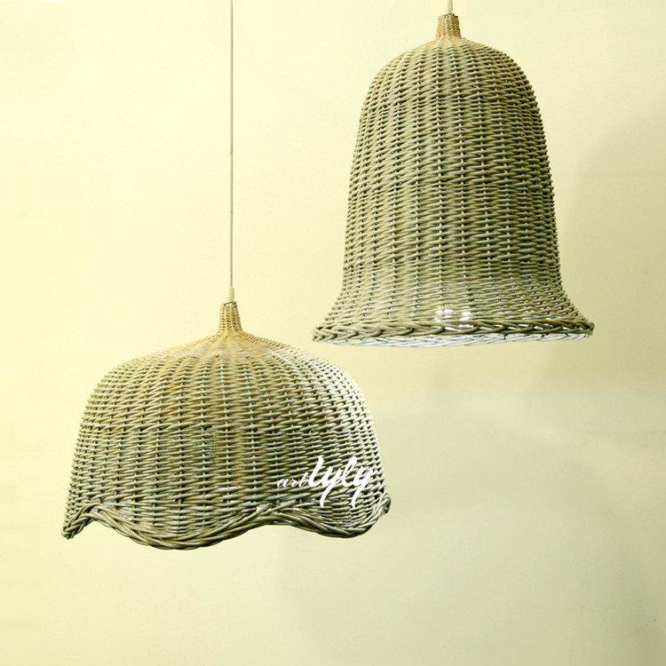 wholesale cheap wicker pendant lamp shade