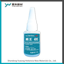 Plastic leather bonding fast super bonding type 495 factory cost and delivery effective