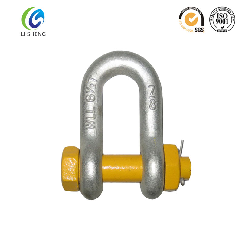 Us type adjustable bolts type dee shackle