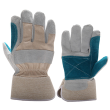 wholesale import cheap Cow split leather hand gloves , safety work gloves for construction work