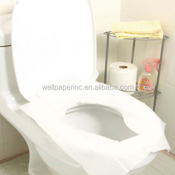 "White 1/2-fold Toilet Seat Cover, 17.44"" Length X 14.5"" Width (Case of 4 Packs, 250 Per Pack) recycled"