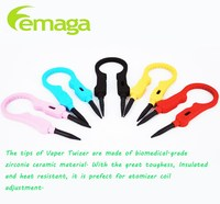 2016 most popular multifunctional Vaper tweezers, Ecig ceramic tool designed for vapers ceramic e cig tweezer in stock