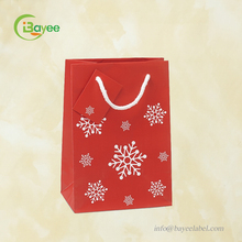 Hot Selling OEM Off Set Printing Patterns Recycled Red Gift Paper Bags For promotion