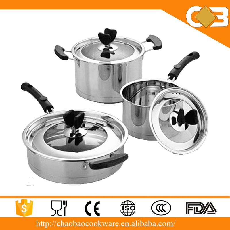 Supply german style kitchen cookware stainless steel 6pcs for Buy kitchen cookware