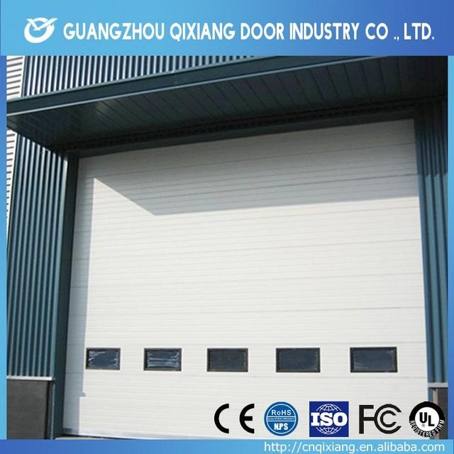 Customized galvanized garage roller door,cheap steel roller shutter door, industrial sectional door with ISO9001 certificate