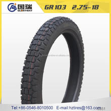 2016 hot sale motorcycle tubeless tyre 80/90-17