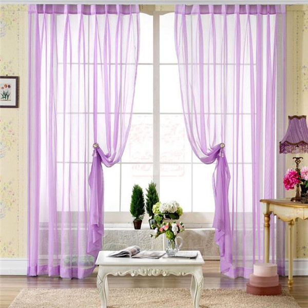 Ready made sheer curtain