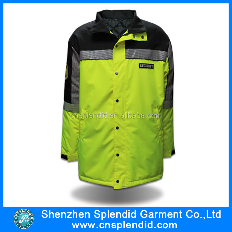 Wholesale mens clothing hi vis reflective safety fireman jacket