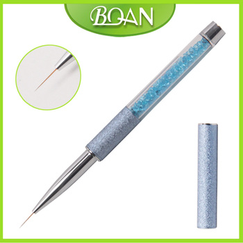 2016 BQAN Latest Rhinestone Design Thin Liner Nail Brush Professional Nail Art Painting Brush