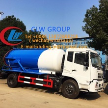 China Widely used waste water suction truck , vacuum pump Sewage tanker Septic water Tank Trucks For Sale
