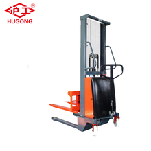 Used 2 ton semi electric truck forklift electric pallet stacker